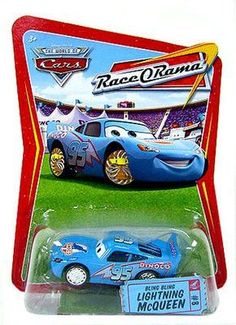 Disney / Pixar CARS Movie 1:55 Die Cast Car Series 4 Race-O-Rama Bling Bling Lightning McQueen