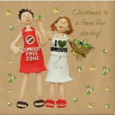 We love sprouts! And just to prove it here's one of our Erica Sturla Christmas cards.