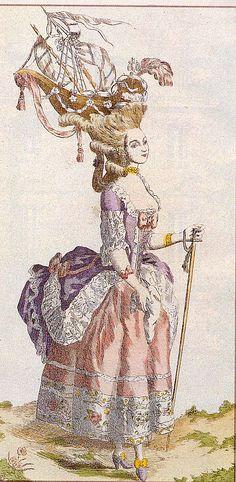 coiffure à la Belle Poule ( voilier)