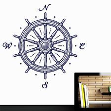Wall Decal Vinyl Sticker Wheel Wind Rose Compass Ship Pirates Sailor Sea r474