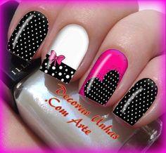 Creative Nail Designs, Cute Nail Designs, Creative Nails, Cute Nail Art, Cute Nails, Iris Nails, Disney Acrylic Nails, Mickey Mouse Nail Art, Eye Makeup Designs