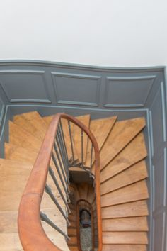 Painted Stair Risers, Stair Shelves, Stairs And Doors, Hallway Designs, Big Windows, Room Colors, Versailles, Architecture Details, Mansart