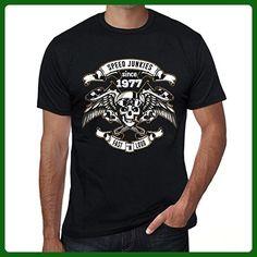 Speed Junkies Since 1977 Men's T-shirt Black Birthday Gift - Birthday shirts (*Amazon Partner-Link)