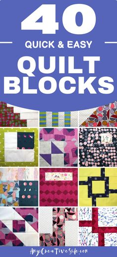 Quilt blocks are a fun and easy way to learn how to quilt. Each week I add a new quilt block pattern with a video tutorial to my site, and the pattern is free for the week! Use these modern quilt patterns to spark your creativity if you're a more experienced quilter, or grow your confidence as a beginning quilter. Start a new sewing project with me!
