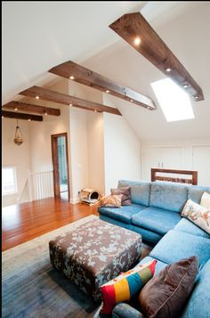 installing can lighting in ceiling beams on vaulted ceiling attic conversion contemporary family room by carick home improvements the best attic home ambient track lighting