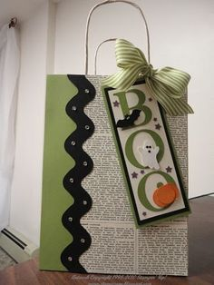 Stampin' Up! Gift Bag by Stampin & Scrappin with Stasia: Halloween Bling
