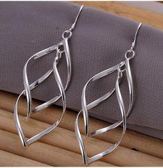 Ohrhänger Lang /  Ornament Ohrringe 925 Sterling Silber  Anhänger  Ohne Haken Länge:             ca. 5,5 cm Breite der Sterne: ca. 2,0 cm