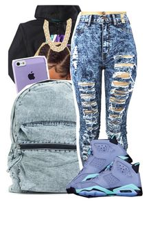 """""""Watching the b.e.t awards"""" by deasia-still-thugin-honey ❤ liked on Polyvore featuring beauty, NIKE and Michael Kors"""