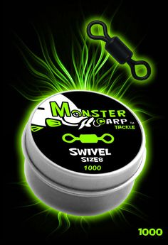 Carp Swivels - Size 8 - Monster Carp Tackle™ Pods