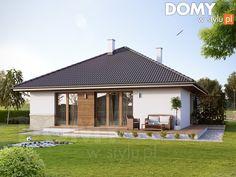 Eris II (wersja C) - projekt domu - Archipelag Bungalow House Design, Modern House Design, Modern Houses, Stone Driveway, Brick Architecture, Design Case, Home Fashion, Home Projects, Coffee Shop