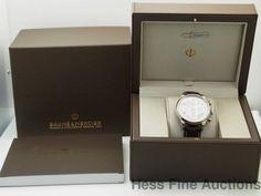 Baume Mercier Capeland 65726 Stainless Steel Chronograph Mens Watch Box Papers #BaumeMercier