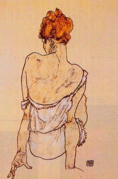 Capturing the essence of a woman is more that simply lines and curves, it is a mood, a feeling, a spirit that can't be quenched... Egon Schiele