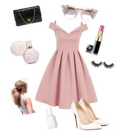 Ariana Grande Inspired outfit by ariana010 on Polyvore featuring polyvore, fashion, style, Chi Chi, Christian Louboutin, Chanel, Jimmy Choo, Essie and clothing