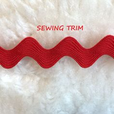 5-1/2 YARDS, 1960s Vintage, Primary Red, Rick Rack Sewing Trim, 11/16 Inch Wide, L245 by DartingDogCrafts on Etsy