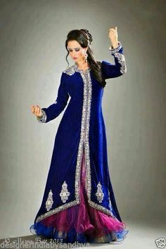 PAKISTANI ANARKALI GOWN KAFTAN INDIAN BOLLYWOOD BEADED EMBROIDERY WEDDING GOWN
