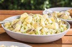 We the people love this Great American Potato Salad! It's a creamy, crunchy, hearty recipe with mayo, celery and hard-cooked eggs.