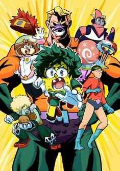My Hero Academia X Spongbob!