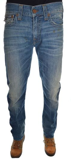 True Religion Mens Jeans Size 32 1/2 Geno W/Flap  SE NWT $278.00 #TrueReligion #Relaxed