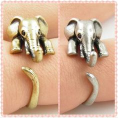 Vintage Elephant Ring