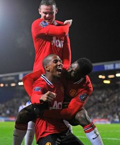 Wayne Rooney, Ashley Young & Danny Welbeck, Manchester United