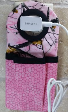 Cell phone charging pouch