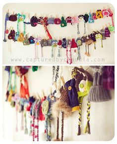 Good idea for hanging/storing winter gear! Do it with mitts, scarves, etc to let them dry off from the snow! Studio Organization, Household Organization, Organizing, Photography Set Up, Photography Business, Winter Time, Winter Gear, Hanging Hats, Backdrops