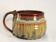 Ceramic soup bowl / cup stoneware pottery by DrostePottery on Etsy, $20.00