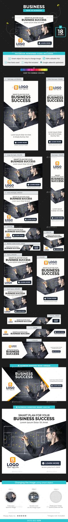 Business Banners Template PSD. Download here: http://graphicriver.net/item/business-banners/16360243?ref=ksioks