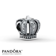 Pandora Charm Royal Crown Sterling Silver. Every girl is a princess. Might as well wear a crown <3