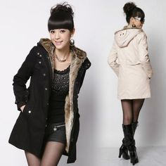Thicken Warm Winter Coat Hood Parka Overcoat Long Jacket Outwear