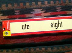 Homophone Word Strips Educational Cards for Teachers Homeschool Daycares Etc | eBay