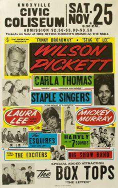 Wilson Pickett soul music poster