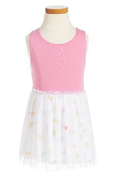 Free shipping and returns on Splendid Butterfly Print Fit & Flare Dress (Toddler Girls & Little Girls) at Nordstrom.com. Colorful butterflies flutter around the skirt of a breezy fit-and-flare dress finished with a sleeveless knit bodice.