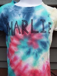 Custom Kids Name Shirts- Custom Tiedye- Personalized Tie Dye- from Anything on a Tie Dye at Creations by Maris https://www.etsy.com/listing/239937437/custom-kids-name-shirts-custom-tiedye