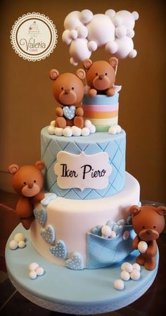 Cupcakes Baby Shower Topper Teddy Bears 42 Ideas #cupcakes #babyshower #baby