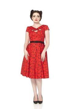 Voodoo Vixen Connie Rockabilly Dress - 2420 - Dark Fashion Clothing - 1
