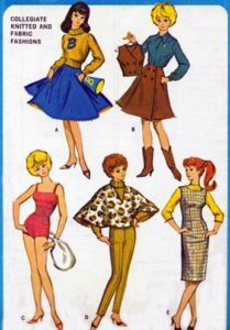 Vintage  Barbie  Doll Clothes Pattern