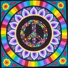 ✪☯☮ॐ American Hippie Psychedelic Art Peace Signs ☮ Hippie Peace, Hippie Love, Hippie Art, Hippie Chick, Peace On Earth, World Peace, Peace Love Happiness, Peace And Love, Peace Sign Art