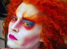 Mad Hatter Makeup oh Johnny Depp Johnny Depp                                                                                                                                                                                 Más