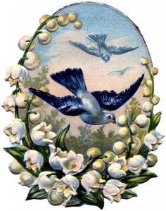 Vintage Bluebirds Image - Sweet! - The Graphics Fairy