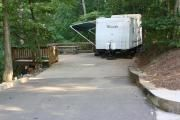 GA: Doll Mountain Campground on Carters Lake near Elijay GA.   From Atlanta, take I-75 north to Exit 293, then Highway 411 north to Highway 136. Turn right on Highway 136 and follow to Highway 382. Turn left on Highway 382 and look for signs to the campground-- access road is directly across from the volunteer fire station. Picturex is site 42 improved site with deck, water and electricity.  http://www.pbandjadventures.com/Places/Doll%20Mountain%20Campground/Doll%20Mountain%20Campground.htm