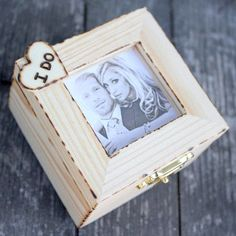 Ring Bearer box, alternative ring pillow idea.  If you want the best officiant for your Outer Banks, NC, ceremony, contact Rev. Barbara Mulford: myobxofficiant.com/
