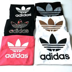 adidas, shirt, and outfit image Adidas Outfit, Adidas Shirt, Pink Adidas, Black Adidas, Mode Outfits, Casual Outfits, Teen Fashion, Womens Fashion, Fashion Trends
