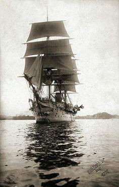 Sailing Ship.....I do appreciate an old Sailing Ship....(photo;1907).