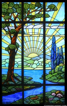 """""""Sunrise"""" Stained Glass Window"""
