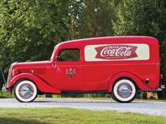 1937 Ford Panel Truck with Coca-Cola