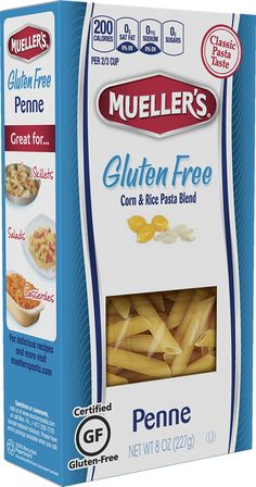 Muellers Gluten Free Penne Rice and Corn Pasta