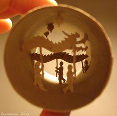 Toilet Paper Art: Anastassia Elias Carves Detailed Scenes Into Tubes