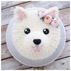 puppy cake birthday \ puppy cake for dogs ; puppy cakes for kids ; puppy cake for dogs birthdays ; puppy cake for dogs recipe ; puppy cakes for kids easy ; Pretty Cakes, Cute Cakes, Bolo Tumblr, Puppy Party, Dog Birthday, Cake Birthday, Dog Bday Cake, Round Birthday Cakes, Cake Toppers