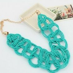 Min order is 10usd (mix order)41F40Vintage Bosnian Bead Choker necklace Statement Necklaces Fashion Jewelry For Women $2.99